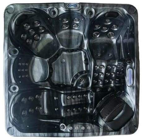 Eddison Hot Tub Spa 3 Pumps 2 Loungers 3 Seats Bluetooth Stereo Call to order: 07809107843