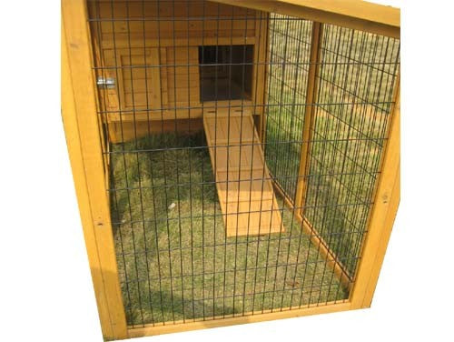 Chicken Coop House With Run On Wheels 8FT Fully Covered For 3-5 Birds