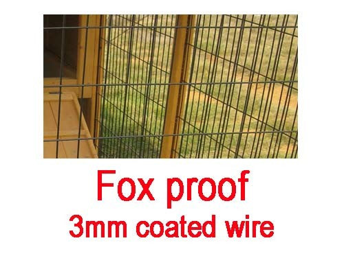 Chicken Coop House With Run & Fox Proof Wire For 3-5 Birds