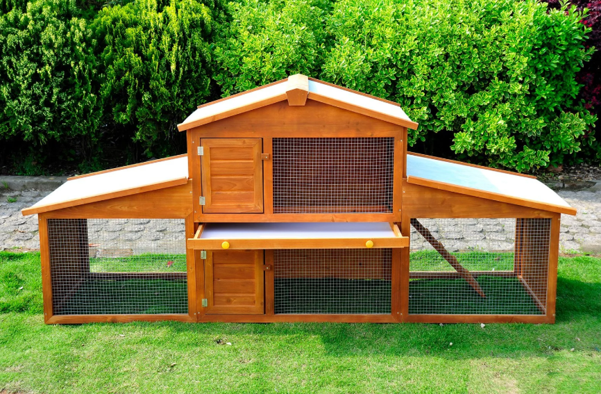 Large Chicken Coop Hen Rabbit House Poultry Hutch Run Guinea Pig