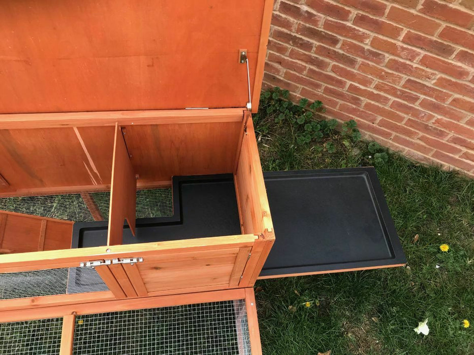 Rabbit & Guinea Pig Hutch With Combined Run