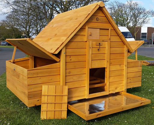 Large Chicken Coop Hutch House - BlueWhaleSales