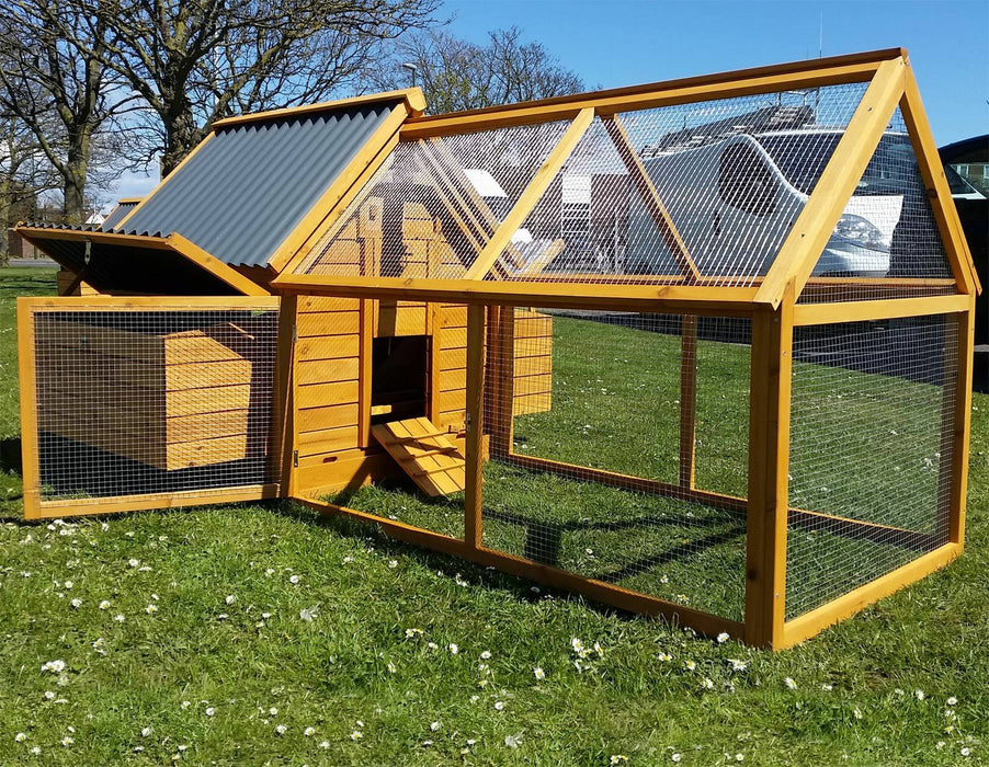 Large Chicken Coop Hen House Hutch For 6-10 Birds