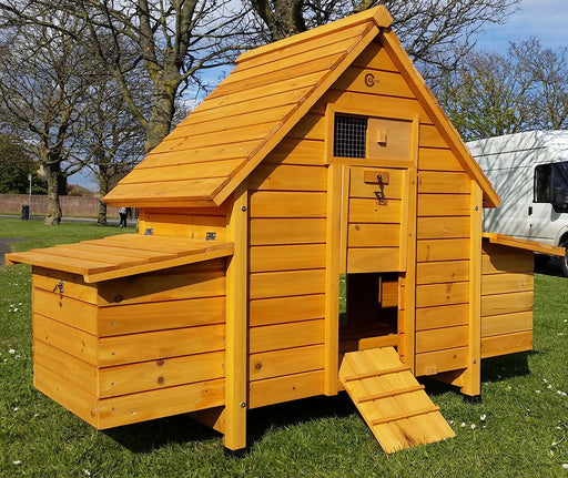 Double Nest Box Chicken Coop Hutch - BlueWhaleSales