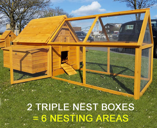 Large Chicken Coop Run Hen House Nest Box - BlueWhaleSales