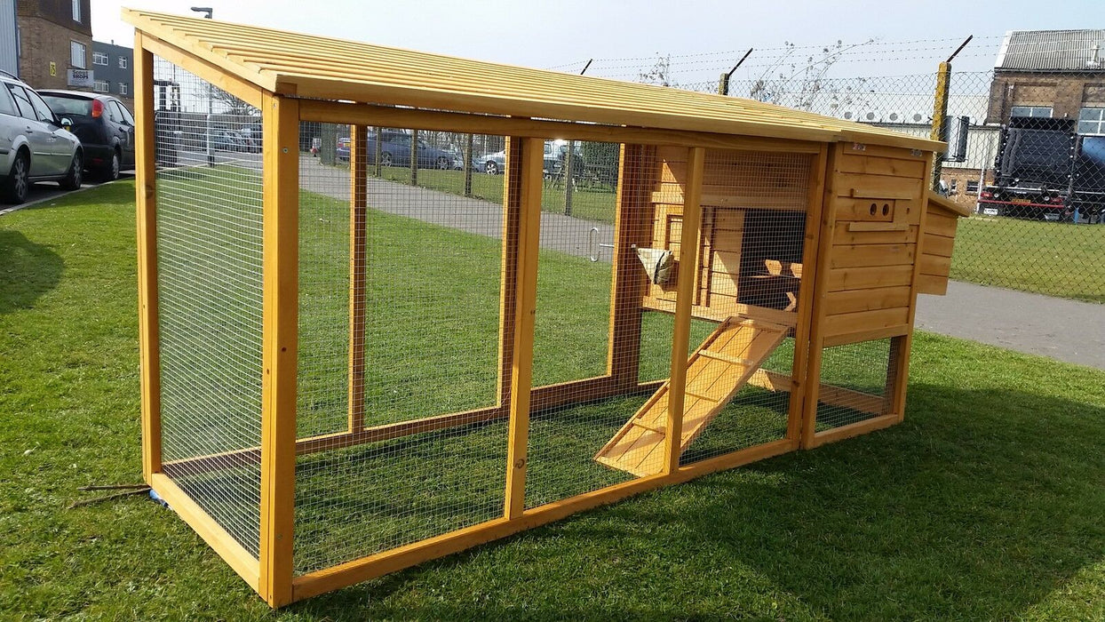 8FT Chicken Coop Hutch - BlueWhaleSales