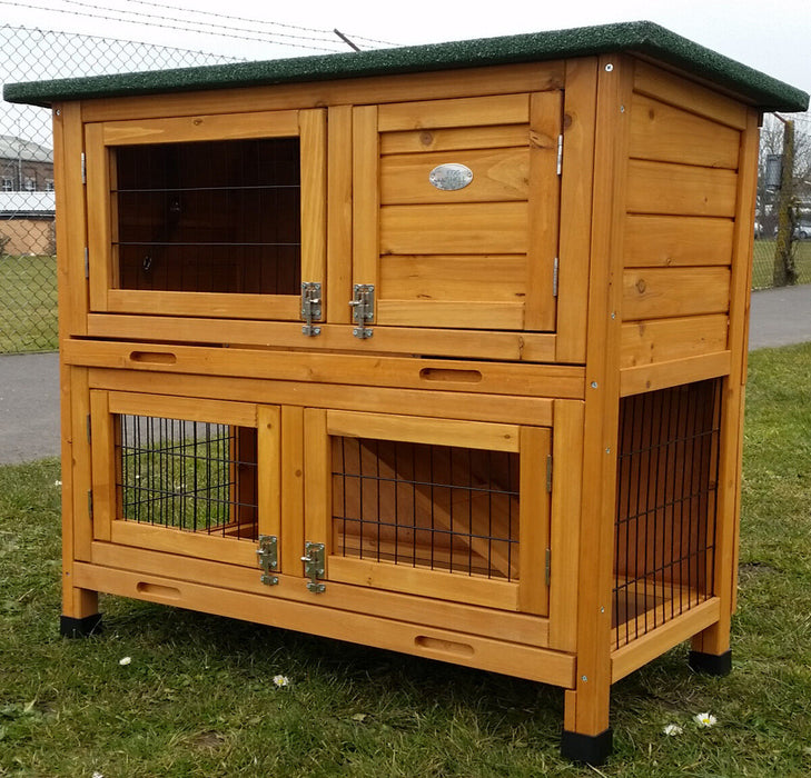 Rabbit & Guinea Pig Large 2 Tier Hutch - BlueWhaleSales