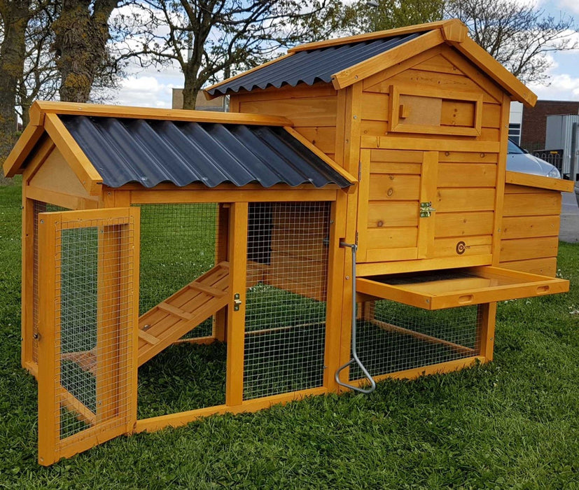 Chicken Coop Hutch Hen Run House - BlueWhaleSales