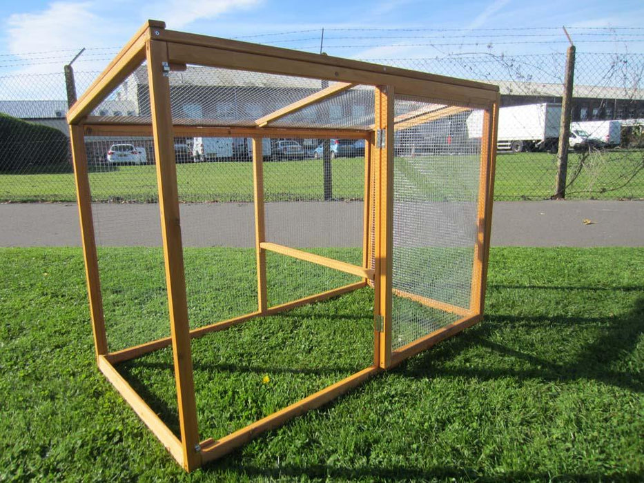 Large 8FT Chicken Coop Hutch Hen House For 3-5 Birds
