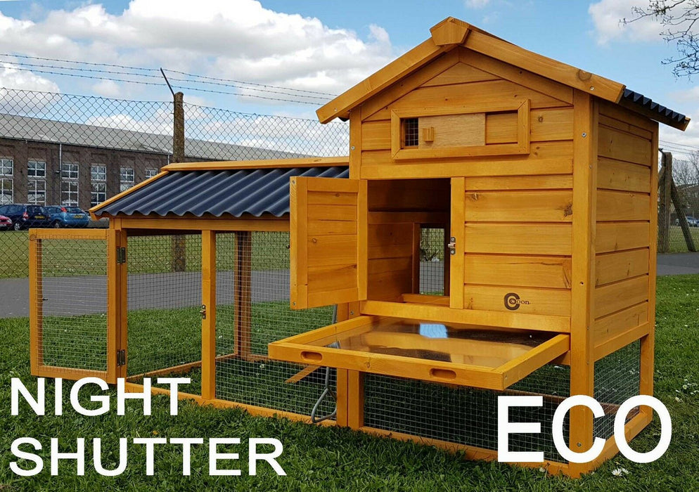 2 Tier Wooden Chicken Coop / Rabbit Hutch - BlueWhaleSales