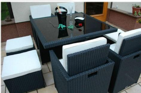 Rattan 8 Seat Cube Garden Furniture Set in Various Colours
