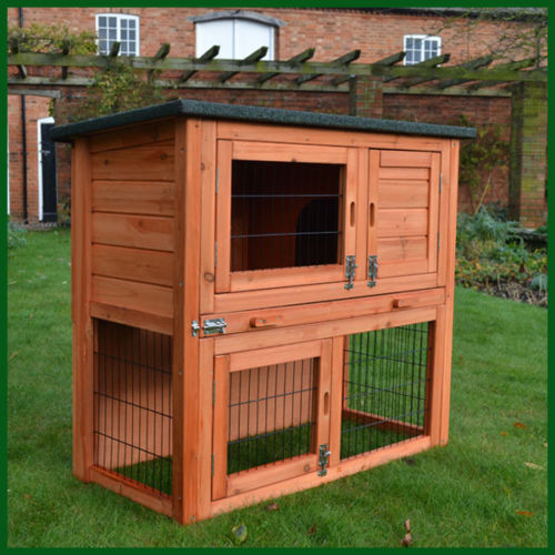 Rabbit & Guinea Pig Double Decker Hutch - BlueWhaleSales