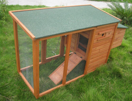 Chicken Coop Hen House Run Rabbit Hutch Mini Shack For 2-4 Birds