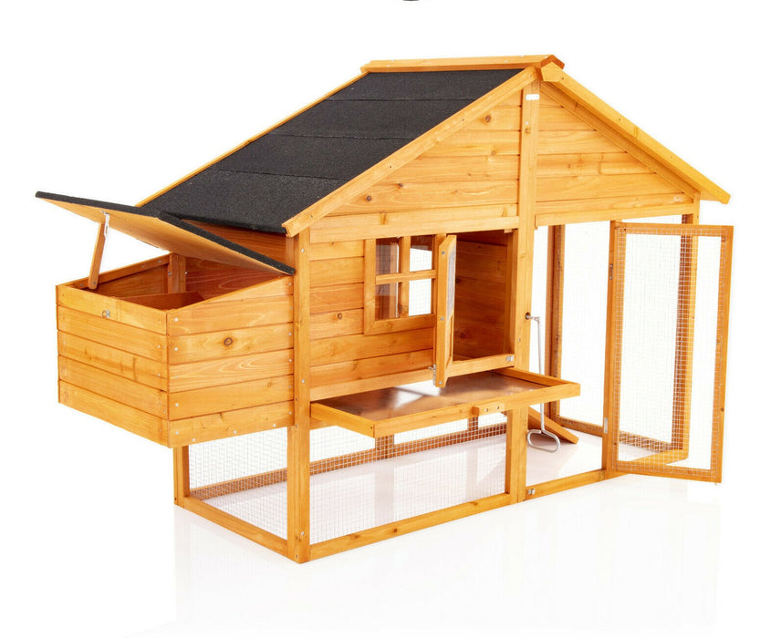 Chicken Coop Rabbit Hutch Ark Run For 4-5 Birds