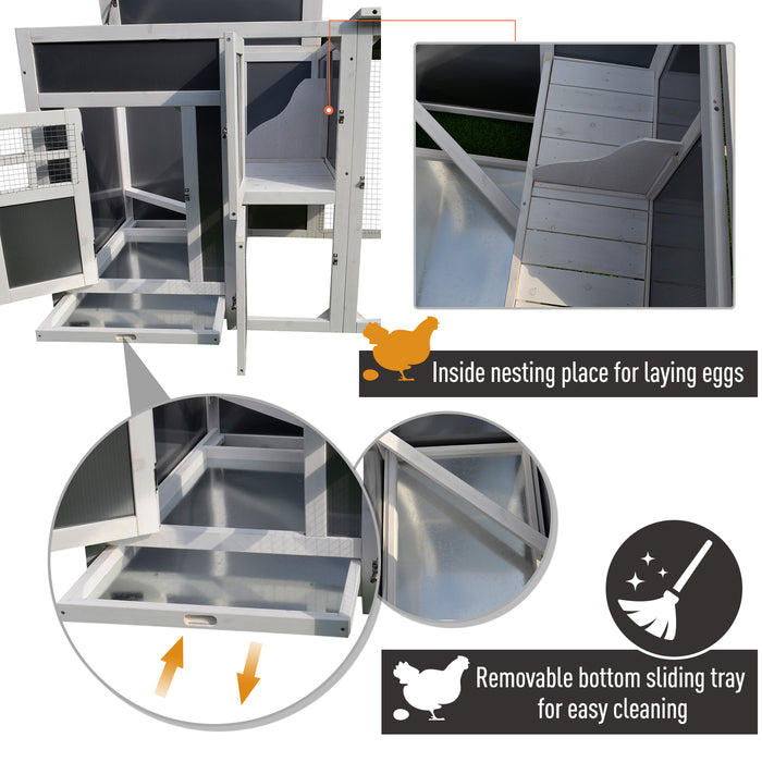 Chicken Coop House Rabbit Hutch Cage For 3-5 Birds