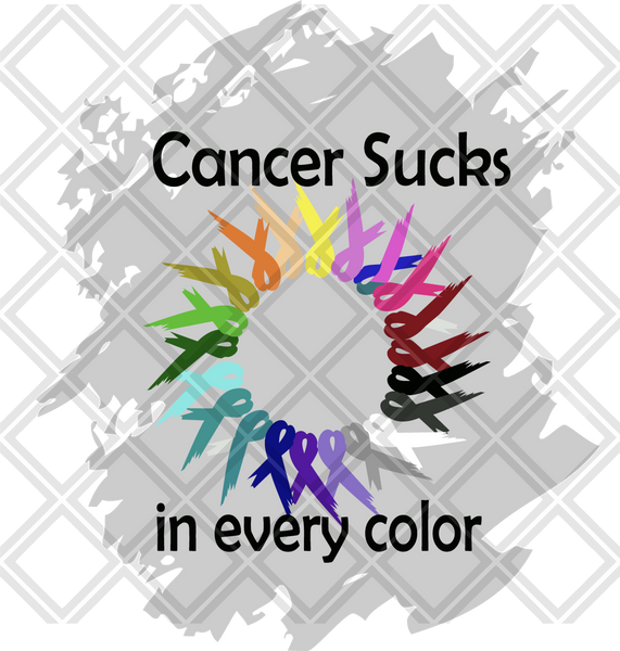 Cancer Sucks in All Colors Can Holder