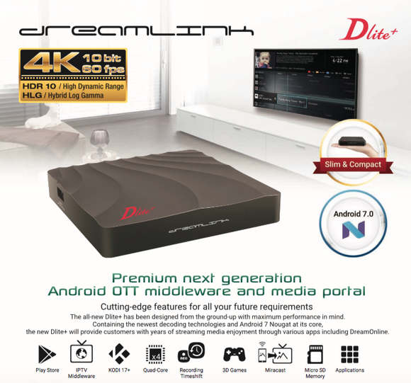 DREAMLINK DLITE+ QUAD CORE 4GB STORAGE/1GB RAM WITH BUILTIN WIFI