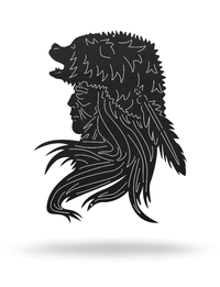 Indian Bear Headress