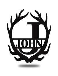 "Steel Roots Decor 2 for $99 Antler Split 18"" Monogram"