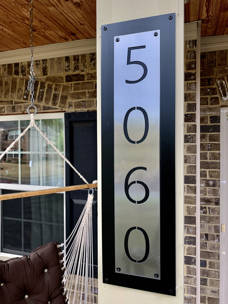 "Steel Roots Decor 24"" House Number Address Plaque"