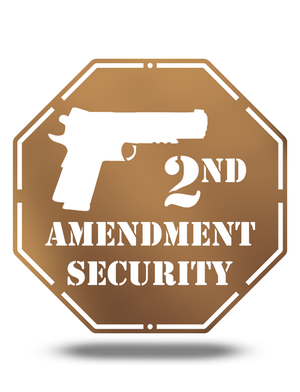 Steel Roots Decor 2nd Amendment Security, 12""