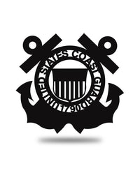 "Steel Roots Decor Black 24"" US Coast Guard Emblem"