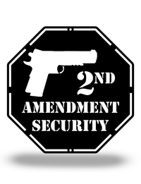Steel Roots Decor Black 2nd Amendment Security, 12""