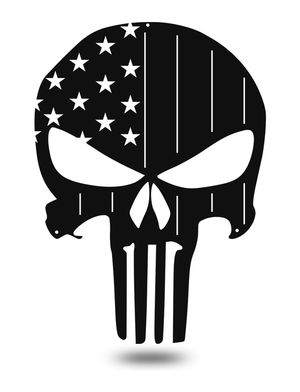 "Steel Roots Decor Black ""American Punisher Skull"" Wall Décor"
