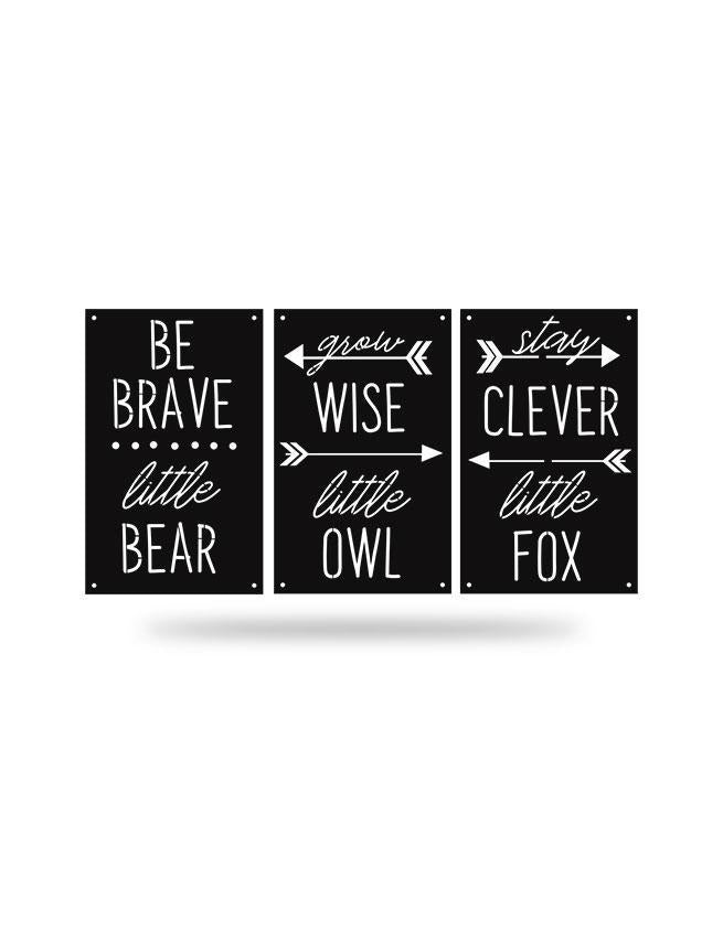 Steel Roots Decor Black Be Brave 3 Pack