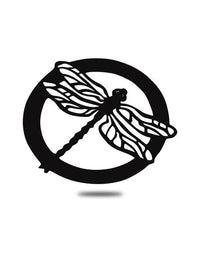 Steel Roots Decor Black Circle Dragonfly