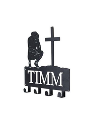 Steel Roots Decor Black COWBOY KNEELING AT THE CROSS COAT RACK