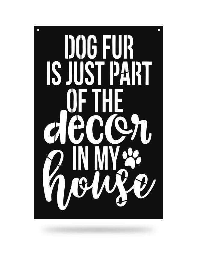 Steel Roots Decor Black Dog Fur Decor
