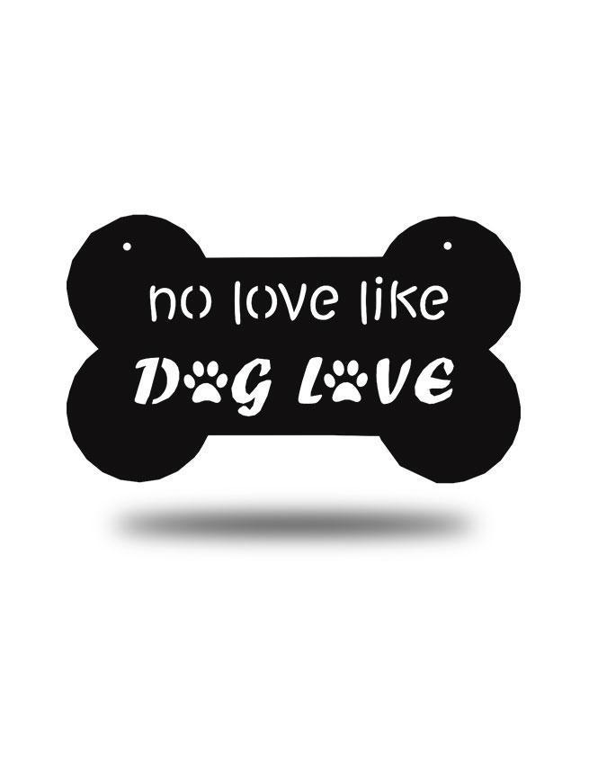 "Steel Roots Decor Black ""Dog Love"" Wall Décor"