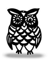 Steel Roots Decor Black FALL OWL (Fall Collection)