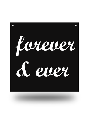 "Steel Roots Decor Black ""Forever & Ever"" 12"" Ready To Hang"