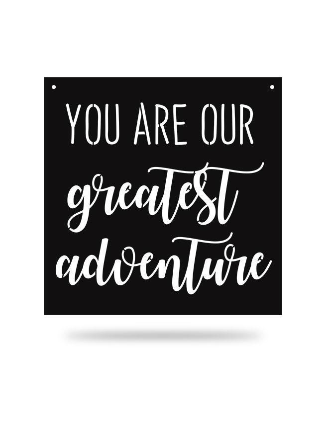 Steel Roots Decor Black Greatest Adventure Square