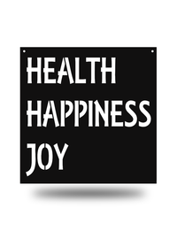 Steel Roots Decor Black Health happiness joy