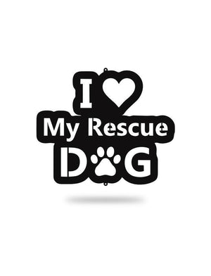 Steel Roots Decor Black I Love My Rescue