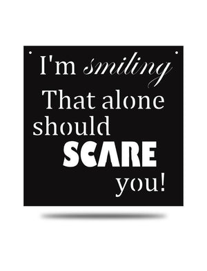 "Steel Roots Decor Black ""I'm Smiling"" Wall Décor"