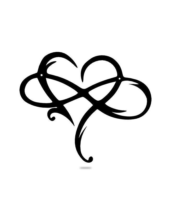 Steel Roots Decor Black Infinite love
