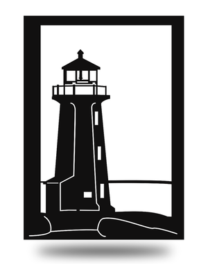 Steel Roots Decor Black Lighthouse