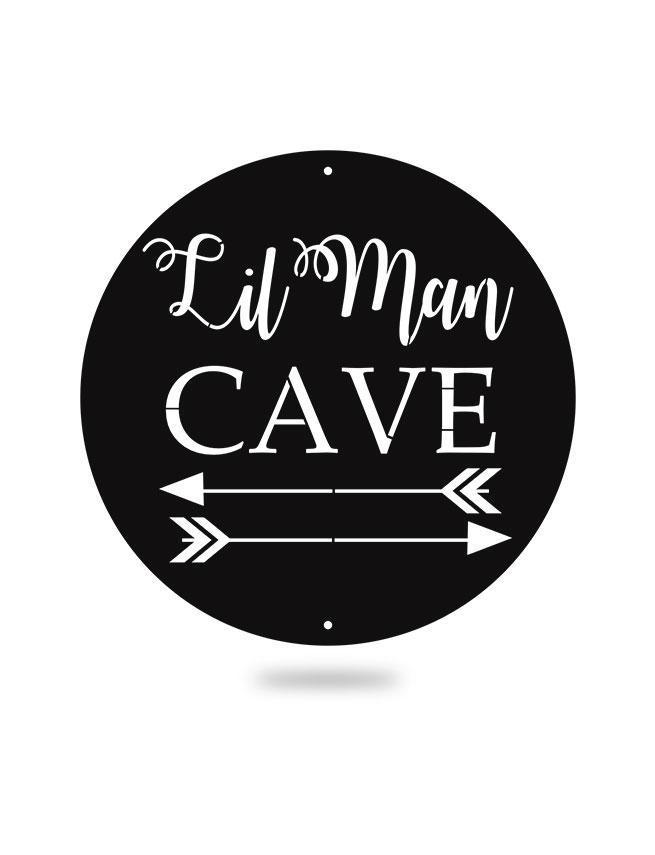 Steel Roots Decor Black Lil Man Cave