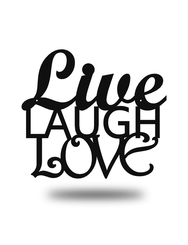"Steel Roots Decor Black ""Live Laugh Love"" Wall Décor"