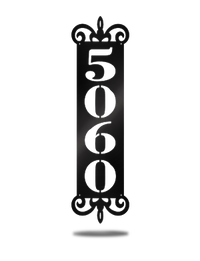 Steel Roots Decor Black Personal House Number Plaque