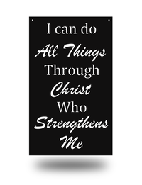 "Steel Roots Decor Black ""Philipians 4:13"" Wall Décor"
