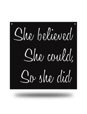 Steel Roots Decor Black She Believed
