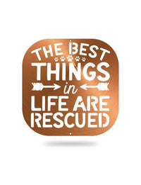 Steel Roots Decor Black The Best Things Are Rescued
