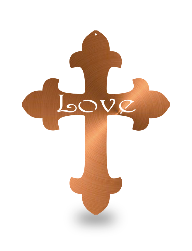 "Steel Roots Decor Copper ""Cross Love"" Wall Décor"