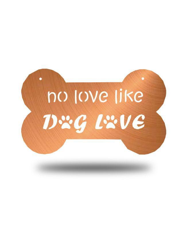 "Steel Roots Decor Copper ""Dog Love"" Wall Décor"