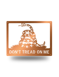 "Steel Roots Decor Copper ""Don't tread on me"""